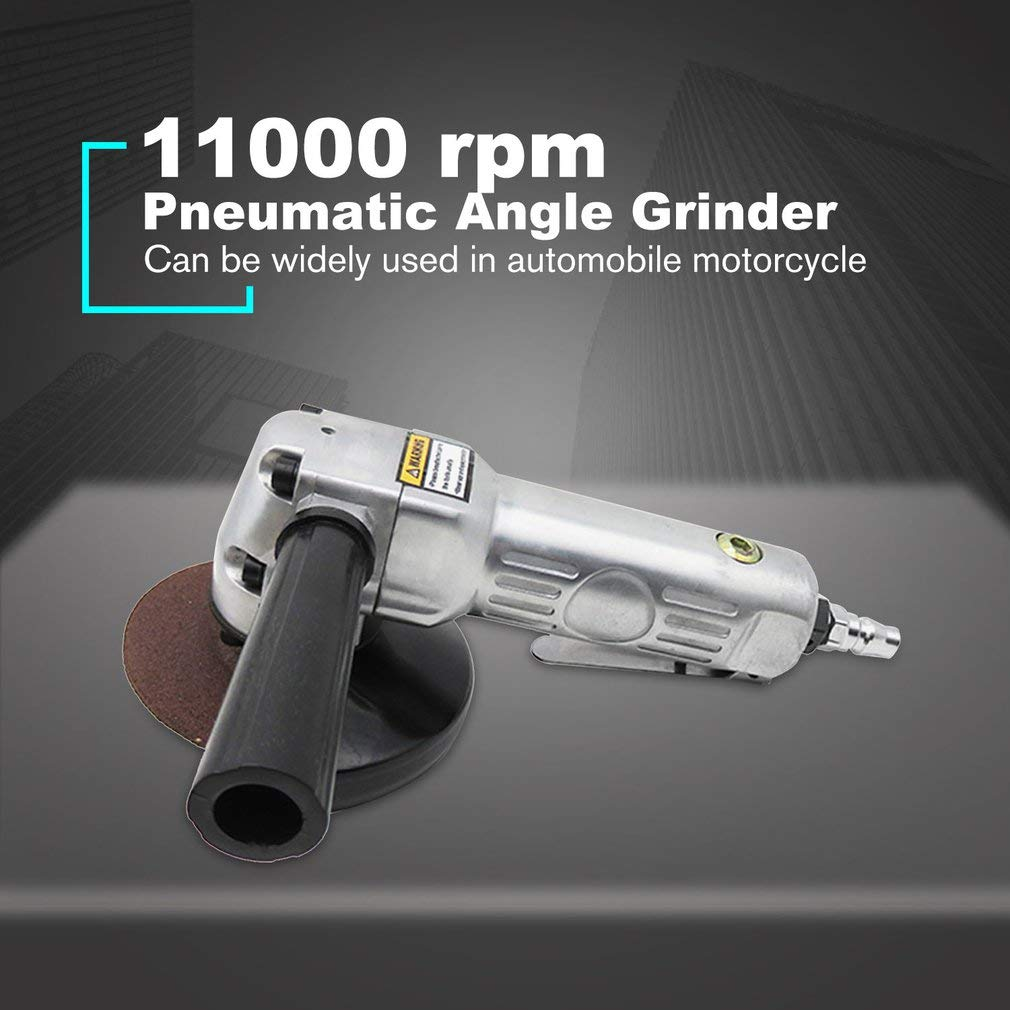 SEN Lucidatrice pneumatica per smerigliatrice pneumatica per smerigliatrice angolare a 90 /° 4 Pollici Argento