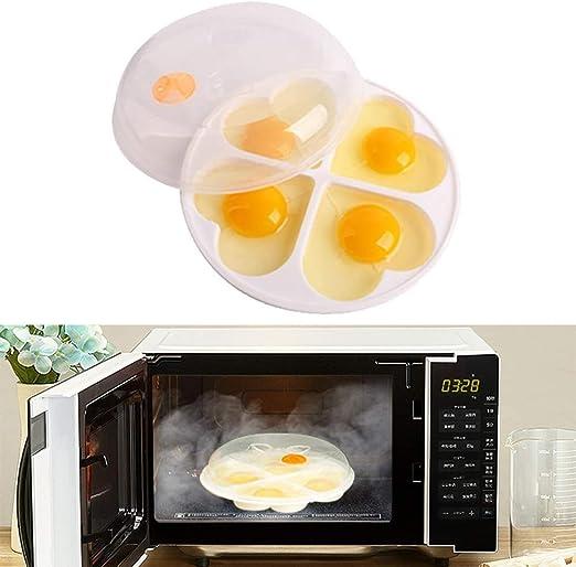 WIKEA To Go Microondas Steam Egg Poacher Maker para hasta 4 Huevos ...