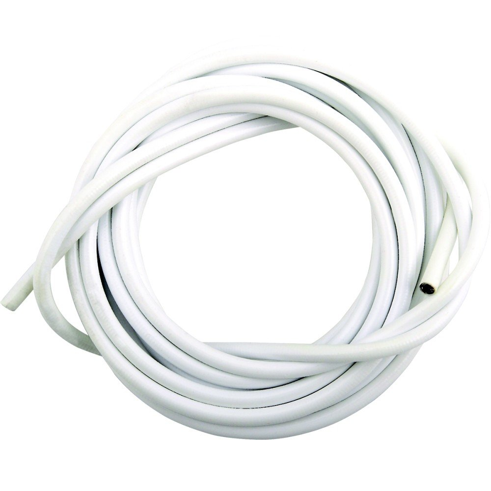 30M WHITE PLASTIC COATED CURTAIN WIRE HANGING CORD CABLE HOOK EYE ...