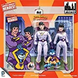 Super Friends Action Figures The Wonder Twins & Gleek Three Pack 8 Inch Action Figures