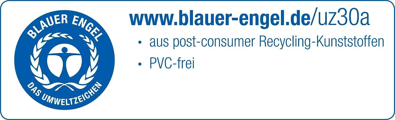 Farbe Schwarz 12 St/ück Metzger /& Mendle 68397101 Stehsammler A4 Vario