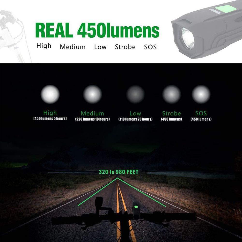 Eclairage Arri/ère V/élo Rechargeable USB LED Lumineuse IPX4 Etanche Facile /à Installer avec Une Vue de Grand Angle de 220 Degr/és OUTERDO Feu Arri/ère V/élo
