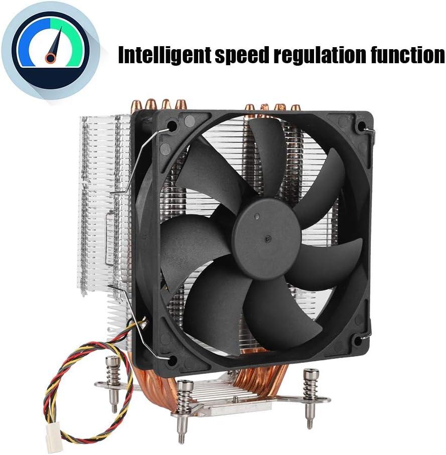 DC 12V CPU Cooling Fan 4pin 48CFM Intelligent Temperature Control 12cm CPU Single Fan 2200/±10/% RPM 6 Heatpipes