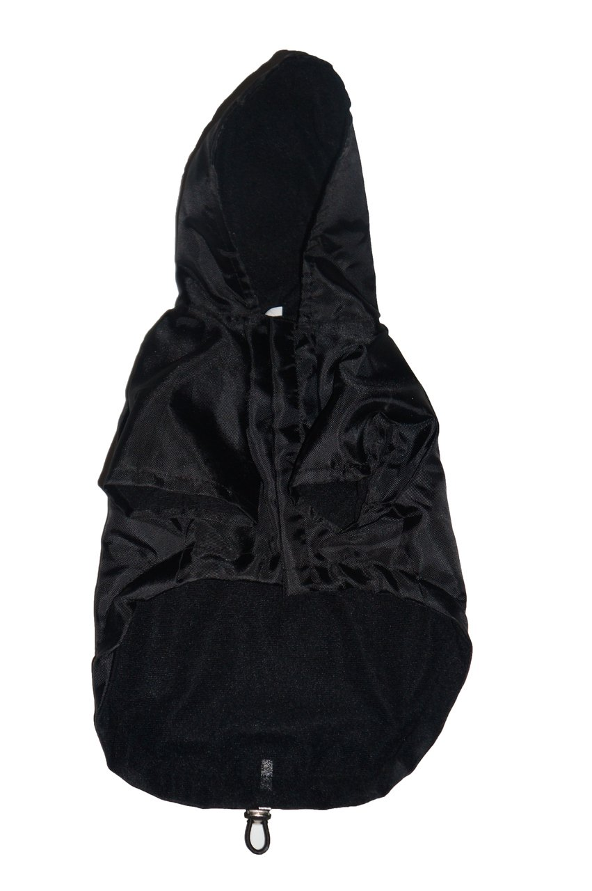 Royal Animals Rain Coat, Water Resistant and Reflective Strip with Hood, Small, Black by ROYAL ANIMALS (Image #4)