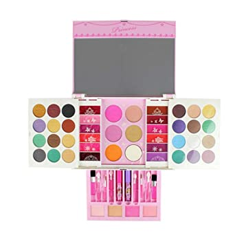 Beauty & Fashion Toys Toys & Hobbies Disney Cosmetics Play Set Princess Makeup Kit With Case Little Girls Non-toxic Cosmetic Box Girl Makeup Kit Box Lips Eyeshadow