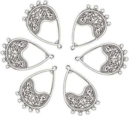 Mixed Antique Tibet silver alloy Chandelier earring charm connectors Jewelry