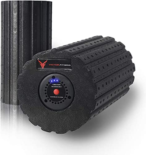 Victor.Fitness Revive Roller 3-Speed Vibrating Foam Massage Roller – High Intensity Vibration for Muscle Recovery, Trigger Points, Mobility, Sports Massage, Therapy