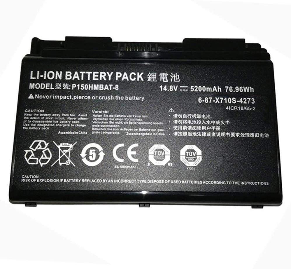 ASKC 14.8V 5200mAh 76.96Wh P150HMBAT-8 Laptop battery for CLevo 6-87-X710S-4271 6-87-X710S-4272 6-87-X710S-4273 6-87-X710S-4J71 6-87-X710S-4J72 Sager P170HM P170 P170SM-A NP8170 NP8150 NP8130
