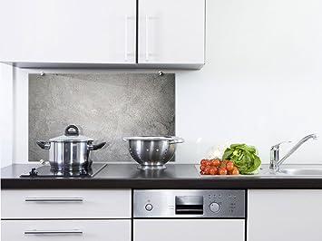 graz-design Küchen-Spritzschutz aus Echtglas | Bild-Motiv grau ...