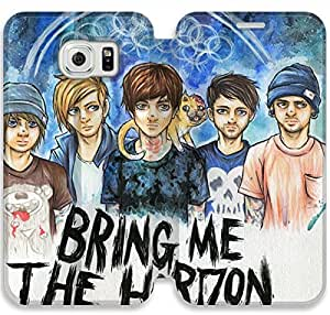 Screen Protection Phone Cases Bring Me The Horizon-2 iPhone Samsung Galaxy S6 Edge Leather Flip Case