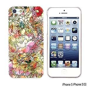 OnlineBestDigital - Flower Pattern Hardback Case for Apple iPhone 5S / Apple iPhone 5 - Colorful Watercolor Flower