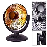 Electric Parabolic Oscillating Infrared Heater Portable Radiant...