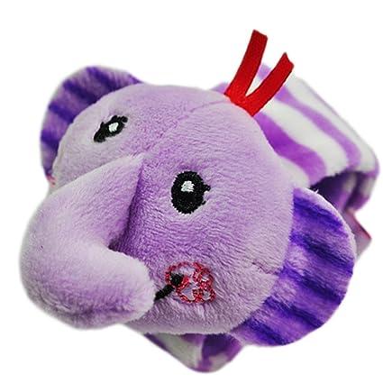 Juguetes Juegos Infantiles Peluche Pulsera Sonajero Animales Bebés - Elefante