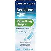 Bausch & Lomb Sensitive Eyes Rewetting Drops, 1-Ounce Bottles (Pack of 3)