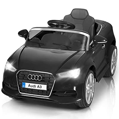Costzon Ride On Car, Licensed Audi A3 12V Battery Powered Ride-On Vehicle, Manual/Parental Remote Control Modes with Headlights, MP3, Music, High/Low Speeds, 2WD (Black): Clothing