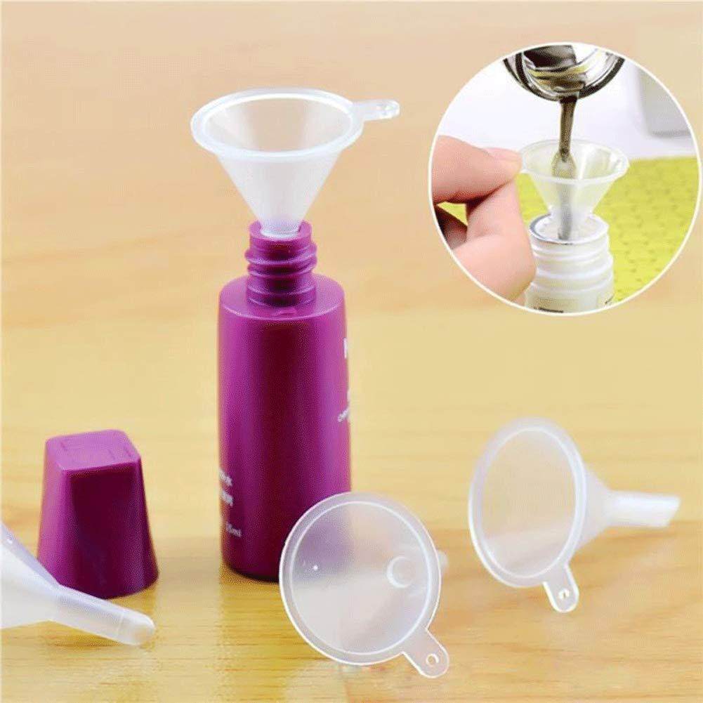 Mini  Plastic Funnels, 50PCS Small Clear Funnels for Art Sand Bottle Filling Perfumes Lab Bottle Essential Oils Arts  Crafts Supplies