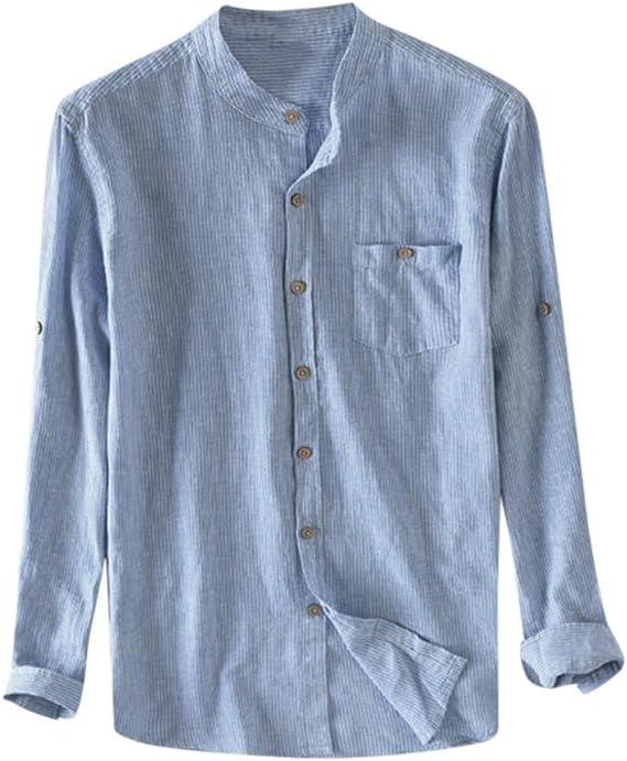 Katsaz - Camisas de algodón para Hombre, Transpirables, con ...