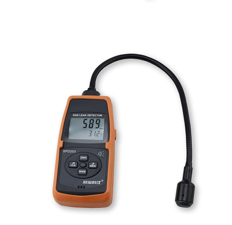 Combustible Gas Leak Detector Methane Gas Leakage Detection Sound Light Alarm Tester, 0~10000ppm 0~20%LEL