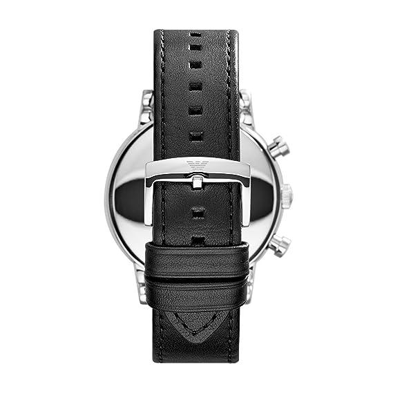 Emporio Armani Reloj para Hombre de con Correa en Cuero AR1828: Emporio Armani: Amazon.es: Relojes