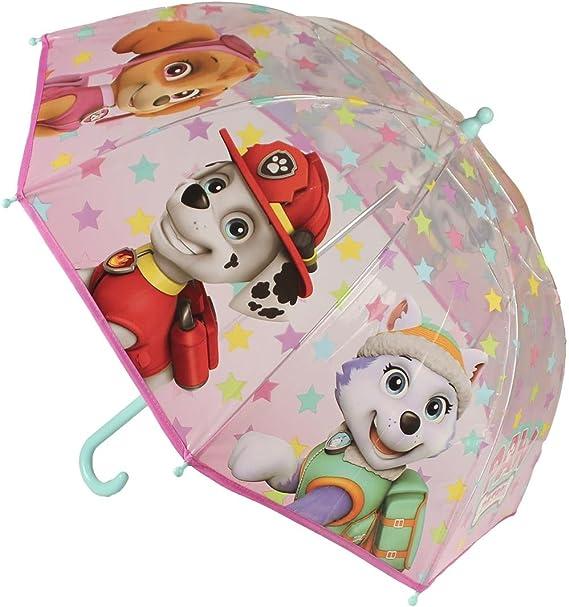 La Pat Patrouille Parapluie transparent enfant fille Rose Diam/ètre 90cm