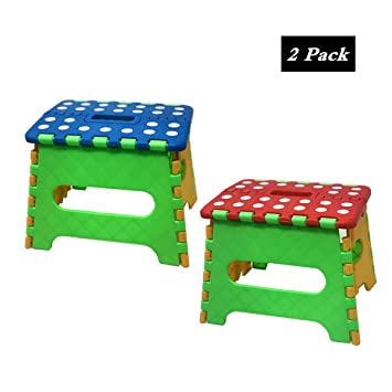 Superb Amazon Com Tsy Tool 2 Pack Folding Step Stool Lightweight Ocoug Best Dining Table And Chair Ideas Images Ocougorg