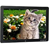 "Andoer 15"" LED Digital Picture Frame Wide Screen HD Digital Album High Resolution 1280*800 Electronic Photo Frame with Remote Control Multiple Functions Support LED Clock Calendar MP3 MP4 Movie"