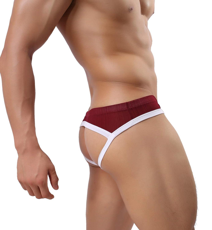 MuscleMate Hot Men's Jockstrap, No Visible Lines, Butt-Flaunting Men's Thong Jockstrap Underwear