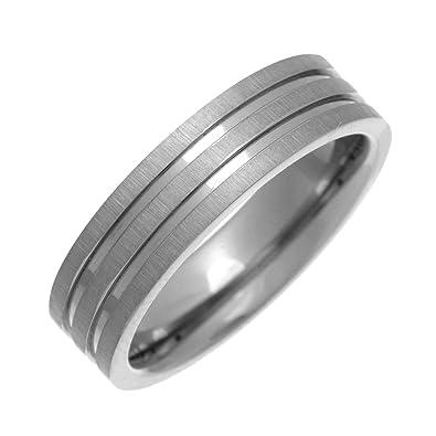 Theia Titanium Flat Court Matt Grooved 6 mm Ring b0OIj