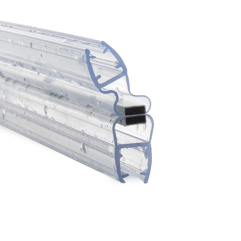 1 PAAR 4 Meter - Duschdichtung magnetisch 1 x UKM04 + 1 x UKM14 – glas stärke 8mm Ersatzdichtung Magnetdichtung Magnetprofil MODEL3 DQ-PP