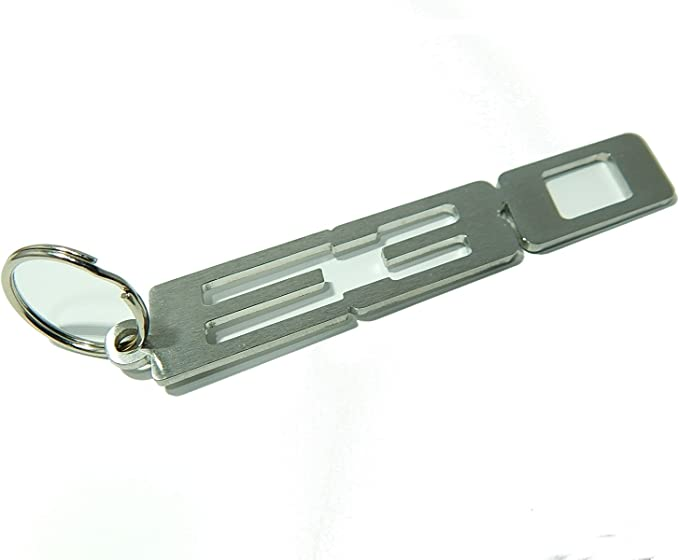 Schlüsselanhänger E30 Hochwertiger Edelstahl Gebürstet Bekleidung