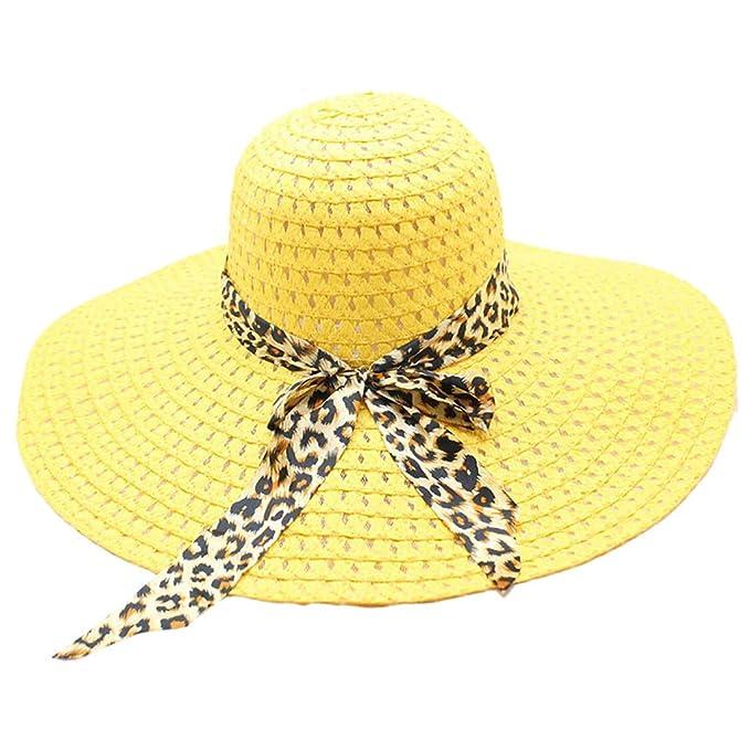 1964bb82edd81 Staresen Sombrero Sombrero de Paja de Playa para Mujer Sombrilla de Jazz  Sombrero de Trilby Sombrero