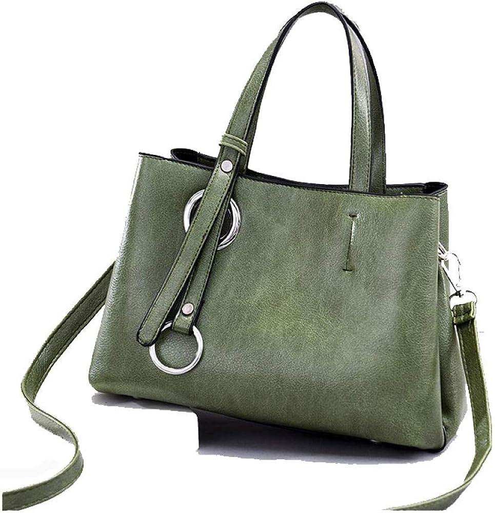Women Handbag Top-Handle Satchel Bag,Fashion Retro Large Capacity Pu Leather Shoulder Small Square Bag Messenger Bag