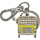 YELLOW SCHOOL BUS or Public Transportation Bus Keychain Embellished with Yellow Enamel & Clear Crystal Rhinestones.The Perfect Appreciation Gift will Leave Lasting Memories & Will Not be Duplicated