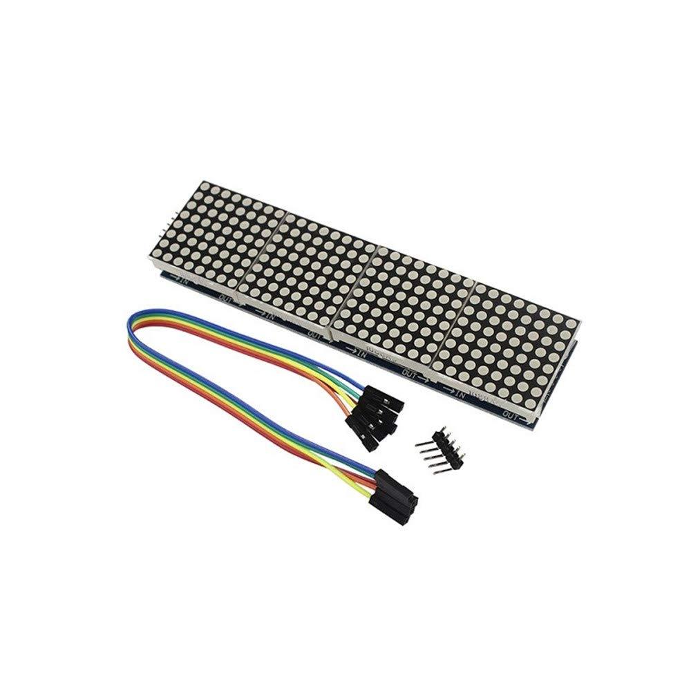 Aofocy Premium Line Max7219 4 en 1 /Écran Microcontr/ôleur 5P Ligne Module Adapt/é pour Arduino Dot Matrix