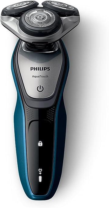 Philips AquaTouch S5420/06 - Afeitadora eléctrica, sin cable, uso en húmedo y seco, 45 min de uso/1 h carga, con tapa protectora del cabezal, battery-powered, color azul: Amazon.es: Electrónica