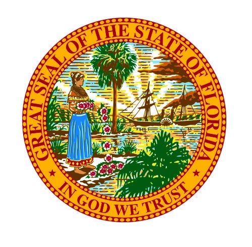 - Florida State Seal Vinyl Decals Bumper Stickers United States USA