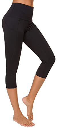 559f1ee04259 Custer's Night High Waist Out Pocket Yoga Pants Tummy Control Workout  Running 4 Way Stretch Capris Leggings
