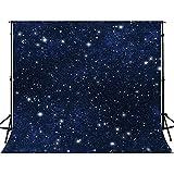 FUERMOR 10x10ft Night Starry Sky Photo Backdrop Studio Props Stars Background GEFU639