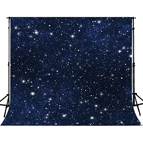 FUERMOR 10x10ft Night Starry Sky Photo Backdrop Studio Props Stars Background GEFU639
