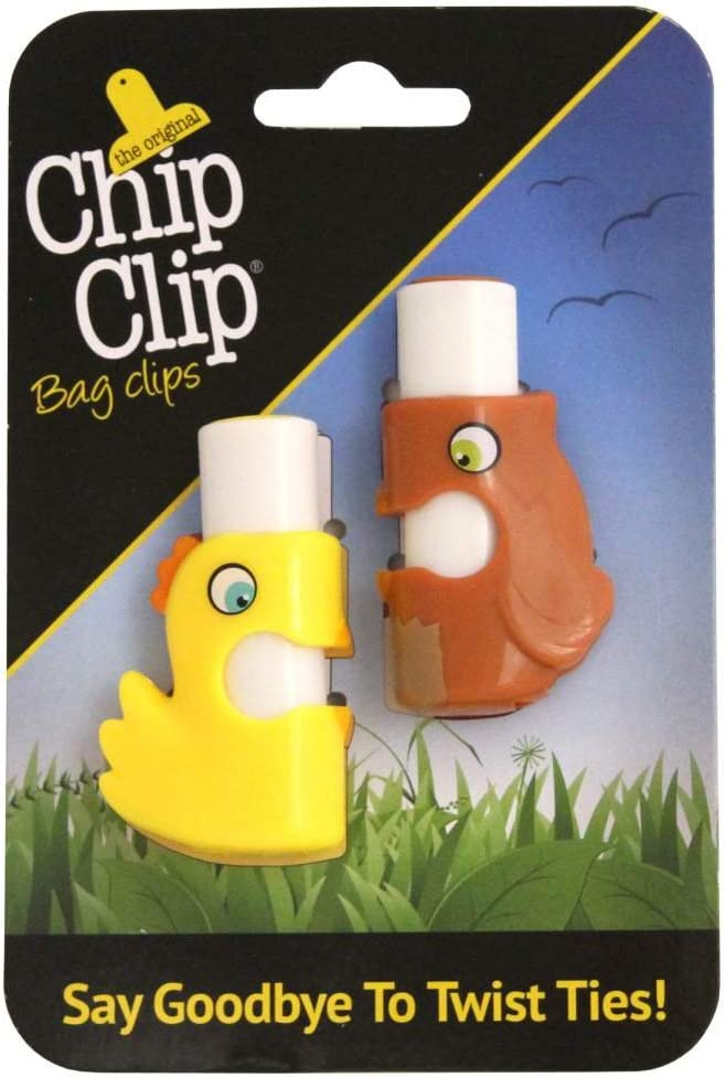 Chip Clip Push Button Bag Ties Set of 2 (Chick/Owl)