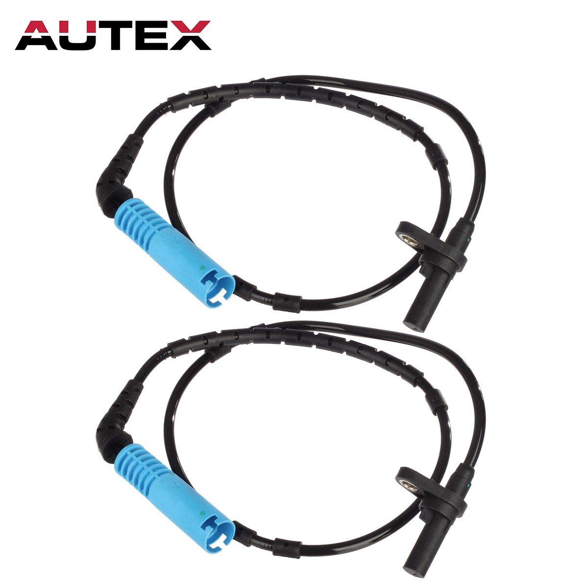 AUTEX 2pcs ABS Wheel Speed Sensor Rear Left & Right ALS441 compatible with 2004 2005 2006 2007 2008 2009 2010 BMW X3 2.5L 3.0L