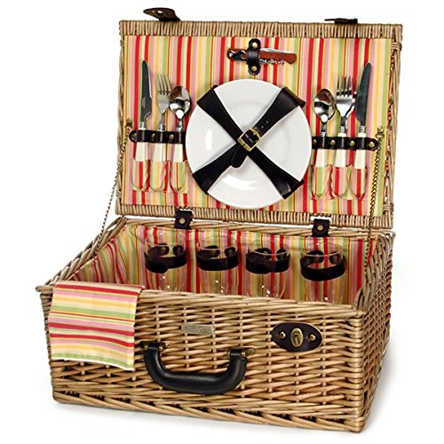 Willow Picnic Basket from Picnic and Beyond Casual English Picnic Basket