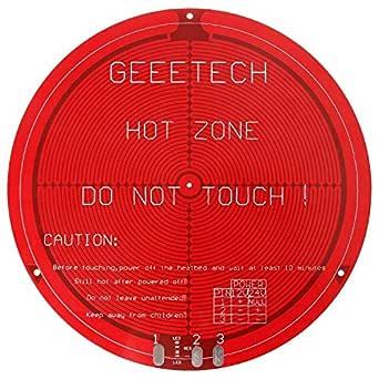 Round PCB heatbed for Delta Rostock mini: Amazon.es: Industria ...