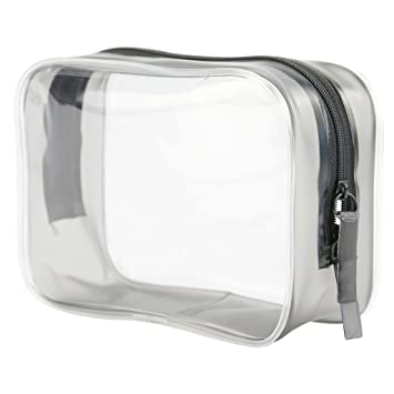 a3ec5cc111eb Amazon.com   Toiletry Cosmetics Bags Waterproof Wash Pouch Makeup  Accessories Plastic Transparent Gift Packing Organizer Clear PVC Zippered  Multi-purpose ...