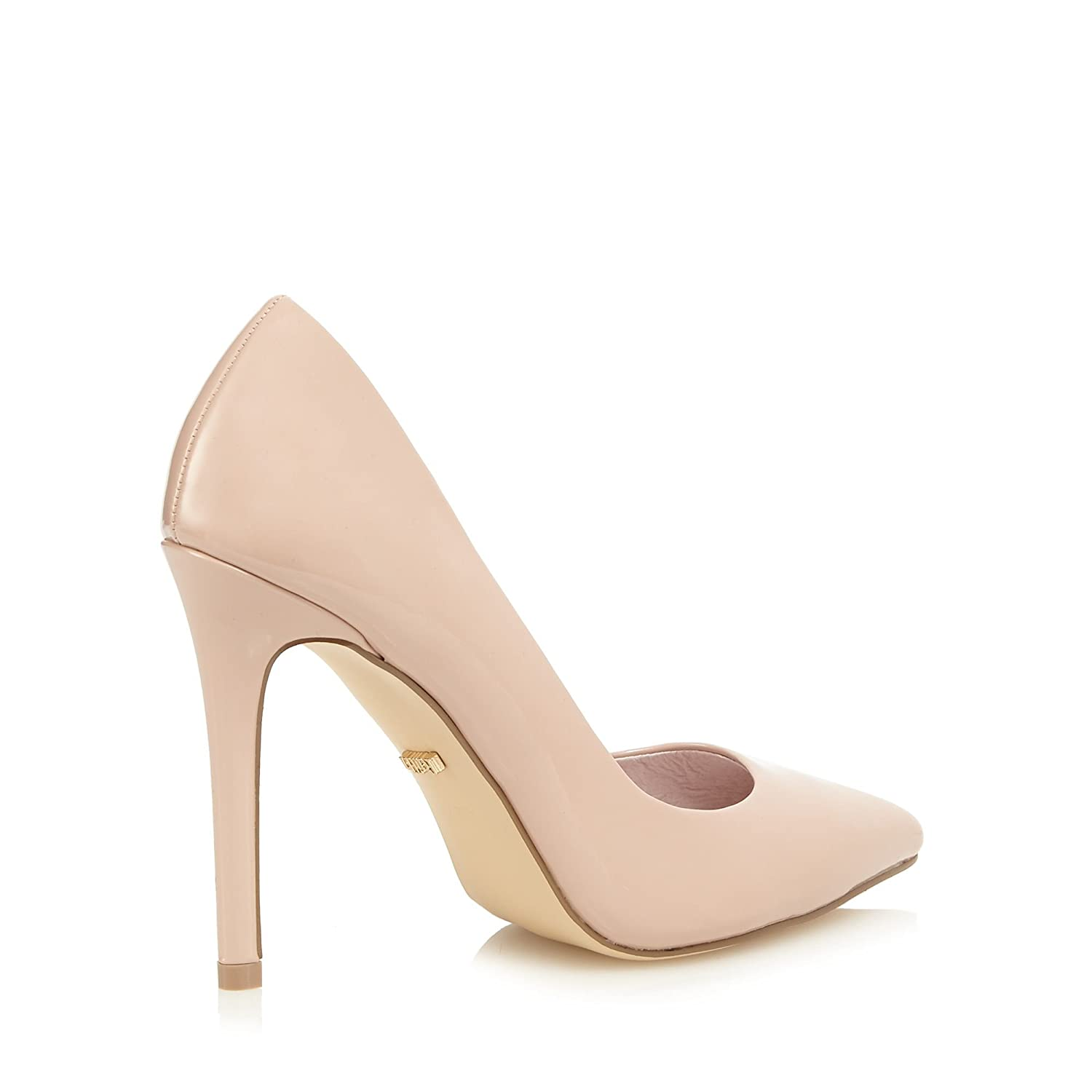 bfa88409fe6 Faith Womens Light Pink Patent 'Chloe' High Heel Wide Fit Pointed ...