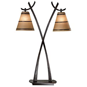 Kenroy Home 03334 Wright Lamps, 30.5 Inch Height, 20 Inch Width, 9.5 Inch Ext, Oil Rubbed Bronze Finish