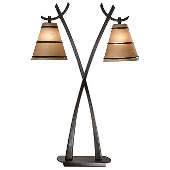 Kenroy home wright 2 light table lamp amazon kenroy home wright 2 light table lamp mozeypictures Choice Image