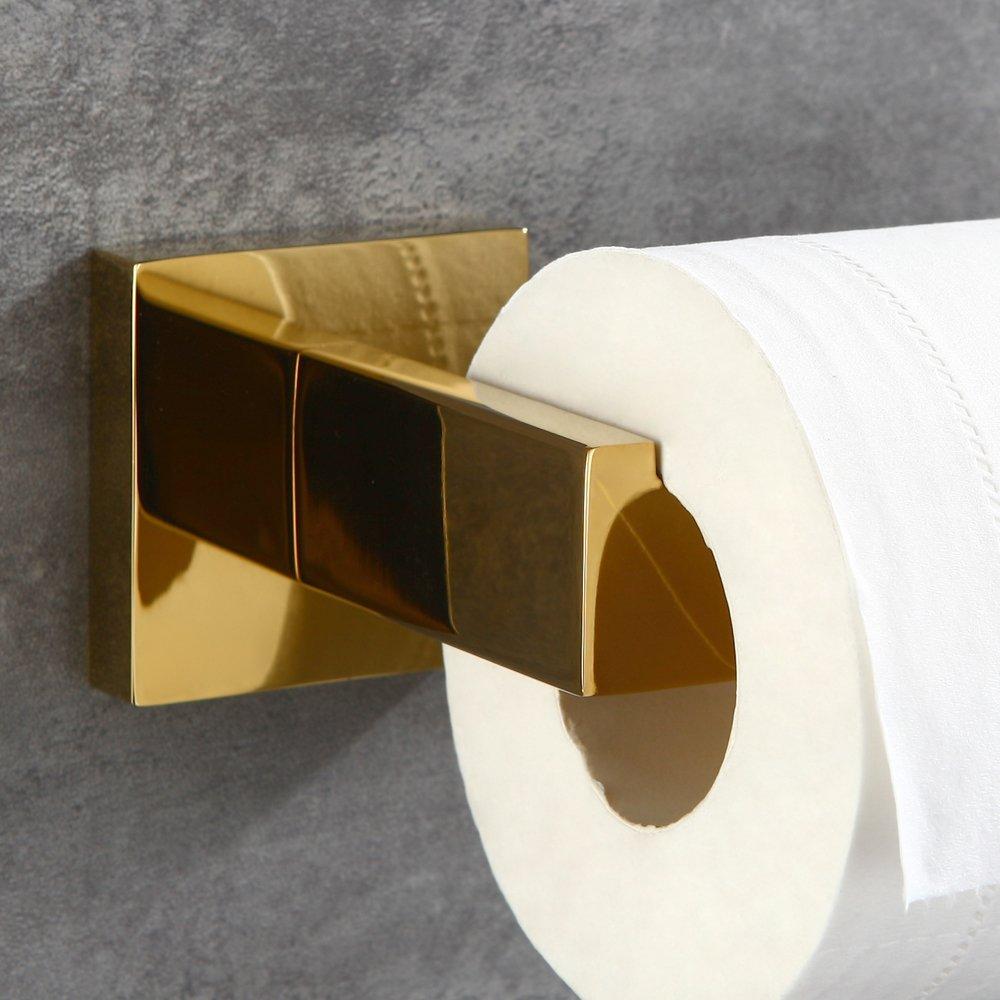 Estilo de Lujo para ba/ño de 60 cm de Largo Towel Ring CASEWIND Dorado Acero Inoxidable Toallero de Barra de toallero con Barra de Acero Inoxidable