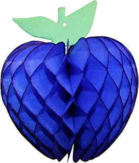 product image for 3-Pack 7 Inch Honeycomb Apple Decoration, Dark Blue