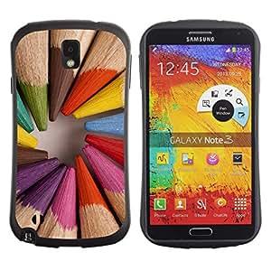 Suave TPU GEL Carcasa Funda Silicona Blando Estuche Caso de protección (para) Samsung Note 3 / CECELL Phone case / / pencil coloring wood painter artist /